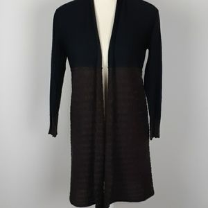 Curio open front sweater cardigan tunic length